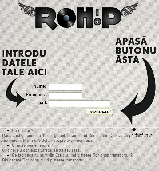 rohiphop concurs concert cumicu 3 iunie